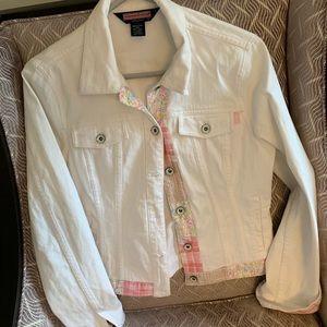 Women's Vineyard Vines white denim jacket